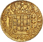 4.000 Réis - José I (Atellier de Lisbonne) – avers