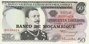 50 Escudos (Banco de Moçambique Overprint) – avers