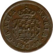 1 real - Maria II – avers