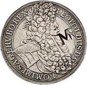 2400 reis - Contremarque MR sur 1 Thaler Autriche 1704 – avers