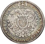 2400 reis - Contremarque MR sur 1 Thaler Autriche 1704 – revers