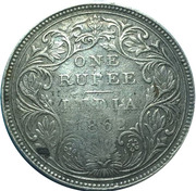 450 Réis (Contremarque sur 1 Rupee/Inde britannique) – revers