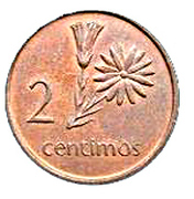 2 centimos – revers