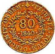 80 reis - Maria II – revers