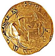 "Half ounce - José I (Countermark ""MR"" over 2 Escudos, Felipe IV, Spain) – avers"