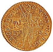 """1 Ducado - José I (Contremarque MR sur """"1 Ducat, Hollande, 1752"""") – avers"""