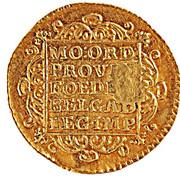 """1 Ducado - José I (Contremarque MR sur """"1 Ducat, Hollande, 1752"""") – revers"""