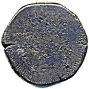 "50 Réis - José I (Countermark ""MR"" over 60 Réis(Tanga)/Portuguese India)zil) – revers"
