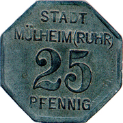 25 pfennig - Mülheim an der Ruhr – avers