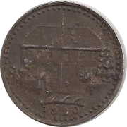 50 pfennig - Münsingen – revers