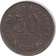 50 pfennig - Münsingen – avers
