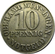 10 pfennig - Münsingen – avers