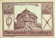 10 Heller (Marktgemeinde Mürzzuschlag) -  avers