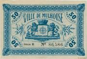 50 centimes - Ville de Mulhouse [68] -  avers