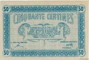 50 centimes - Ville de Mulhouse [68] -  revers