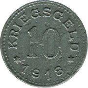 10 pfennig - Munderkingen – revers
