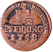 1½ Pfenning – revers