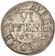 6 Pfennig - Christoph Bernhard von Galen – revers