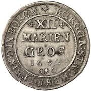 12 Mariengroschen - Friedrich Christian von Plettenberg – revers