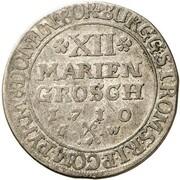 12 Mariengroschen - Franz Arnold von Wolff-Metternich – revers