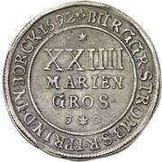 24 Mariengroschen - Friedrich Christian von Plettenberg – revers