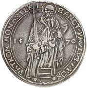 1 Thaler - Johann IV von Hoya – revers