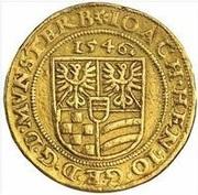 3 Ducat - Joachim, Heinrich II, Johann and Georg (Memorial to Karl I) – revers