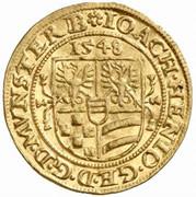 1 Ducat - Joachim, Heinrich II, Johann and Georg – avers