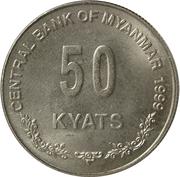 50 kyats – revers