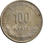 100 kyats – revers