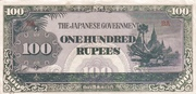 100 Rupees (Japanese Government) – avers