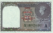 1 Rupee - Burma Currency Board -  avers