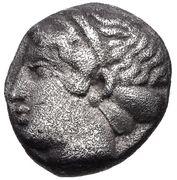 Diobol (Myrina) – avers