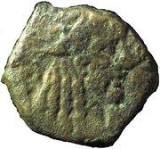 Prutah - Rabbel II and Gamilat – avers