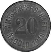 20 pfennig - Nagold – avers