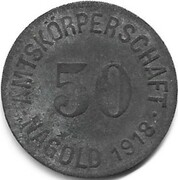50 pfennig - Nagold – avers