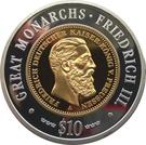 10 dollars (Friedrich III) – revers