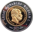 10 dollars (Wilhelm I) – revers