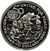 10 dollars (ONU) – revers