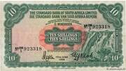 10 Shillings (South West Africa) – avers