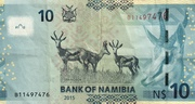 10 Namibia Dollars – revers