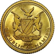 5 Dollars (Indépendance) – avers