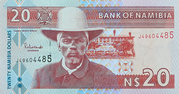 20 Namibia Dollars – avers