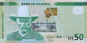 50 Namibia Dollars – avers