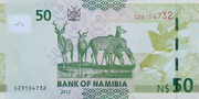 50 Namibia Dollars – revers