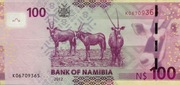 100 Namibia Dollars – revers