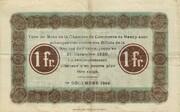 1 franc - Chambre de Commerce de Nancy <Filigrane abeilles> -  avers