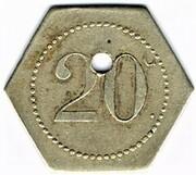 20 centimes - Excelsior - Nancy (54) – revers