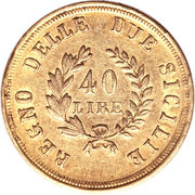 40 lire - Joachim Murat – revers