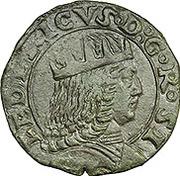 1 sestino - Federico III – avers